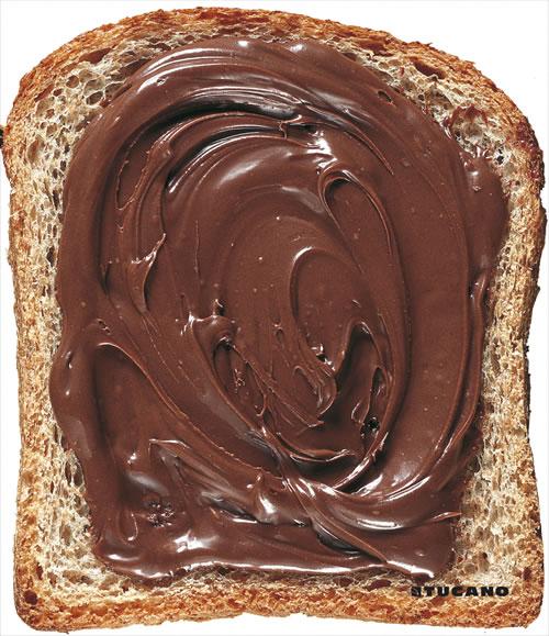 Alfombrillas tostada con chocolate