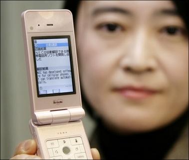 NEC móvil traductor en tiempo real