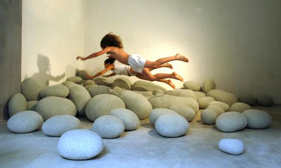 Livingstones: Almohadas en forma de rocas