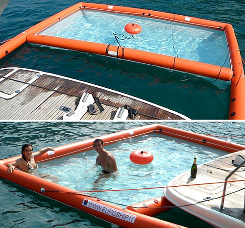 Magic swim piscina hinchable para ba arte en el mar Piscina portatil pequena