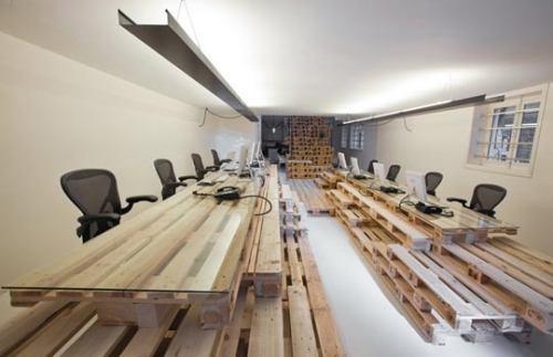 Un estudio de arquitectura construido con pal s - Estudio 3 arquitectos ...