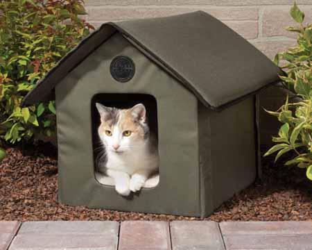 Caseta gatuna para exteriores climatizada - Casetas de resina para jardin ...