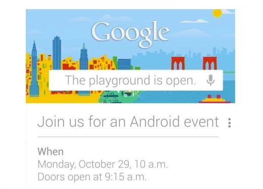 Google convoca a los medios para un evento el día 29 de octubre que estará relacionado con Android.