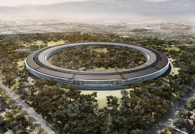 Las nuevas oficinas de apple desde el aire for Oficinas de apple