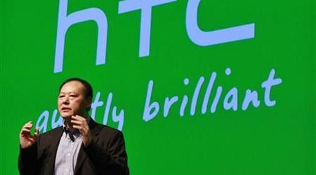 HTC CEO Chou speaks during the launch event for new Microsoft Windows 8 operating system HTC phones in New York