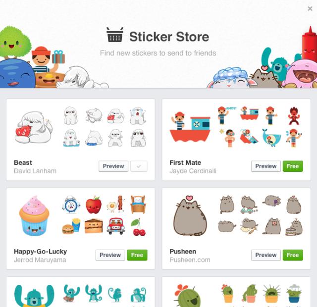 facebook-sticker-store