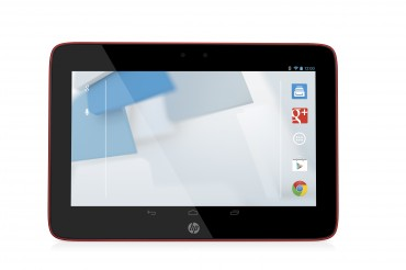 HP Slate10 HD Tablet, Bright Red with Android Screen, Front