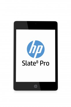 HP Slate8 Pro Tablet, Snow White, Front