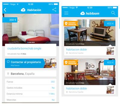 Habitoom estrena app para buscar habitaciones en piso for Buscar piso compartido