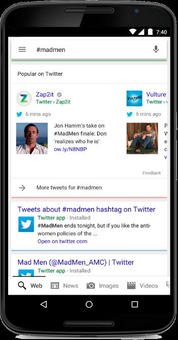 google-tweets-hashtags