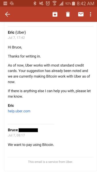 Uber-Bitcoins