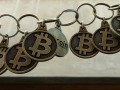 BTC Keychain Seguir Bitcoin Chain IMG_9179 Chain of Bitcoin keychains, symbolizing the Bitcoin Blockchain