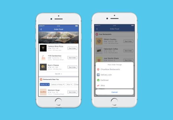 Facebook Ya Permite Pedir Comida Desde Su Aplicaci 243 N